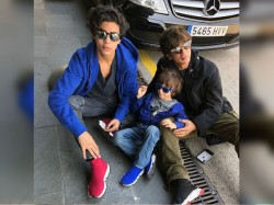 See The Pictures Shahrukh Khan Spending Some Vacay Time With Family At Barcelona