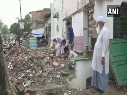 Muslims Demolish Parts Mosques As Up Govt Plans Widen Roads For Kumbh Mela