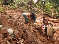 Nine Persons Are Killed Landslides At Three Places The Hill District Amenglong Manipur