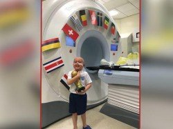 After Six Week Radiotherapy Little Boy Was His Own World Cup England