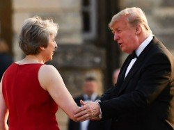Theresa May Claimed Trump Told Her Sue The Eu Over Brexit