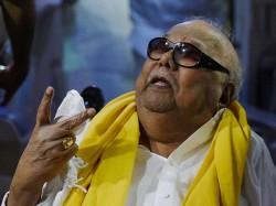 Karunanidhi S Samadhi At Anna Memorial Denied Marina Beach Denied