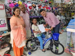 Child Donated Her Piggy Bank Kerala Got Cycle From Hero