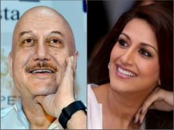 Anupam Kher Calls Sonali Bendre His Hero After Metting The Actress In New York
