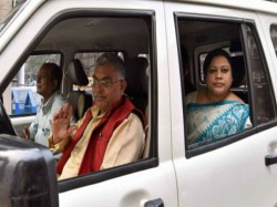 Bjp State President Dilip Ghosh Arrives Delhi Meet Party President Amit Shah