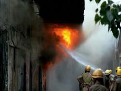Devastating Fire Engulfs Clothing Warehouse At Elliot Road Kolkata