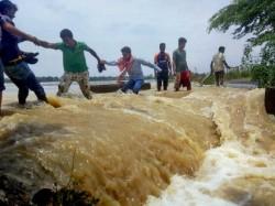 Bankura Is Flooded Heavy Rainfall Water Gandheswari River