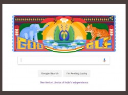 A Doodle Inspired Indian Truck Art Google Also Celebrates India S Independence Day