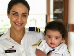 Meet Gul Panag S Six Month Old Son Nihal Pic Inside
