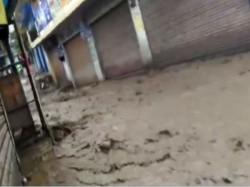 Road Turns River Himachal Pradesh S Mandi As Heavy Rains Cause Floods