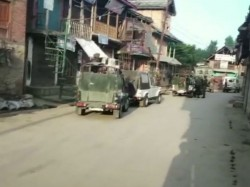 An Encounter Is Underway Between Security Forces Terrorists In Bandipora Kashmir