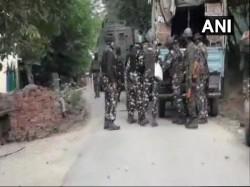 Exchange Fire Between Security Forces Terrorists Handwara Kupwara District