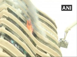 Fire Breaks At Apartments Mumbai S Parel Some Trapped Top Foor