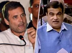 Congress President Rahul Gandhi Slams Central Minister Nitin Gadkari