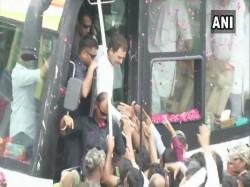 Congress President Rahul Gandhi Holds Roadshow Poll Bound Rajasthan