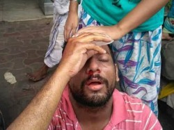 Tmcp Allegedly Attacked Some Students Front Surendranath Colllege
