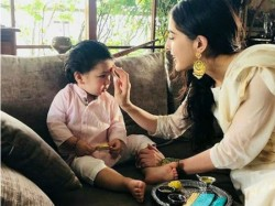 Taimur Khan Celebrates Rakhi With Sister Sara Ali Khan
