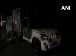 Vehicle With Animal Remains Set Ablaze Uttar Pradesh