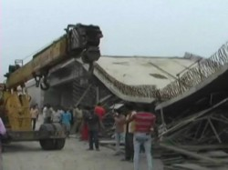 Under Construction Flyover Collapses On Up Highway Centre Was Undertaking Project