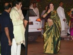 At Ambani S Ganesh Charurthi Utsav Amitabh Rekha Shahrukh Turns Head