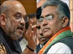 Bjp President Amit Shah Calls Dilip Ghosh Brigade Delhi Discussion