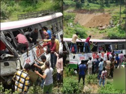 Dead After Bus Falls Into Valley Telangana