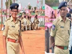 Proud Father Salutes Police Officer Daughter Telengana