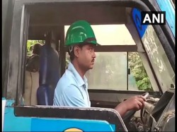Bus Drivers Wear Helmets Safety On Bandh Called The Bjp