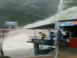 Uttarakhand S Kempty Falls Turns Furious After Heavy Rain See Video