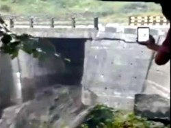 A Bridge Collapsed Sikkim S Mangan Following Heavy Rain Fall Region See Video