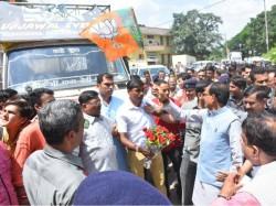 Shivraj Singh Chouhan S Rath Pelted With Stones Again Madhya Pradesh