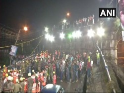 Rescue Operation Continues Throughout The Night On The Majherhat Bridge Collapse Site