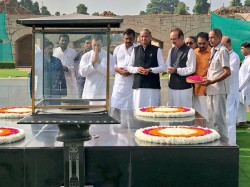 Congress President Rahul Gandhi Arrives At Rajghat Join Bandh Protest Against Fuel Price Hike