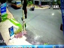 Miraculous Surviving After Came Under Moving Bus Wheels Tamilnadu