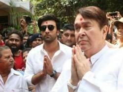 Ranbir Kapoor Rishi Kapoor Visit R K Studios Ganpati Visarjan