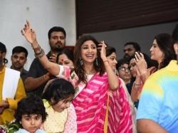 Shilpa Shetty Bids Farewell Ganpati Bappa With Blockbuster Visarjan Dances Her Heart Out