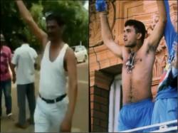 Bjp Candidate Veerappa Siragannavar Celebrates Victory Karnataka Poll Reminds Sourav Ganguly