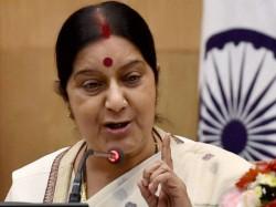 Sushma Swaraj Attacks Pakistan Regarding Hafiz Muhammad Saeed