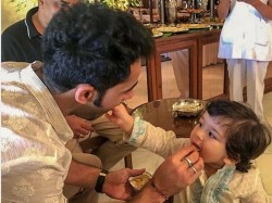 Taimur Ali Khan Steals The Show At Uncle Aadar Jain S Ganpatt Celebrations