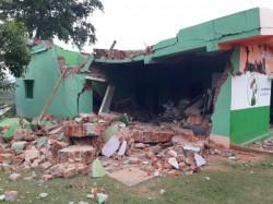 Explosion Tmc Party Office At Kankartala Birbhum