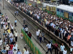 Unrest Situation Is Created At Sodpur Station Rail Obstruction