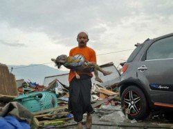 Dead Hundreds Missing After Earthquake Tsunami Hits Indonesia