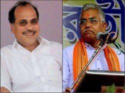 Bjp State President Dilip Ghosh Stands Adhir Chowdhury On His Removal