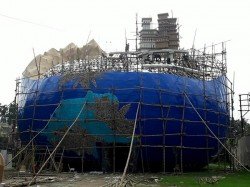 Ramchandrapur Milan Sangha Has Established The Earth Durga Puja