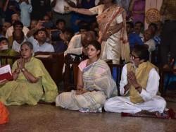Amitabh Bachchan Jaya Shweta Bachchan Step For Puja