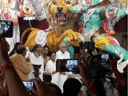 Bagbazar Sarbojanin Durgotsab Committee Enters 100th Year Cm Mamata Banerjee Inaugurates Idol Today