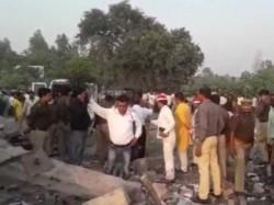 Killed Explosion At Fire Cracker Factory Uttar Pradesh S Badaun