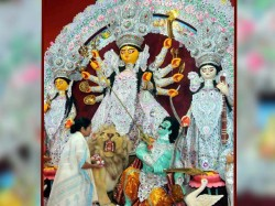 Mamata Banerjee Dilip Ghosh Inaugurated Several Durga Puja Pandals This Year