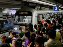 Metro Service Is Disrupted Due Fire Inside Metro Rake