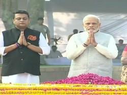 Narendra Modi Pays Tribute Lalbahadurshastri On His Birth Anniversary
